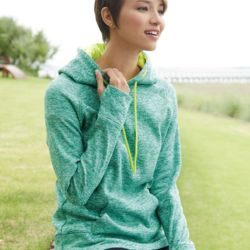 8616 Women's Cosmic Fleece Hooded Sweatshirt Thumbnail